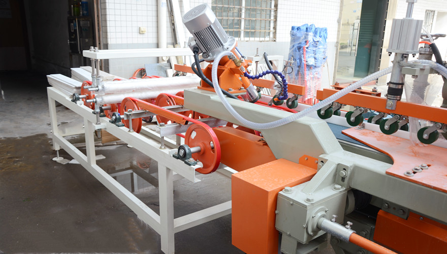 Two Spindle Ceramic Cutting And Tile Bullnose Polishing Machine