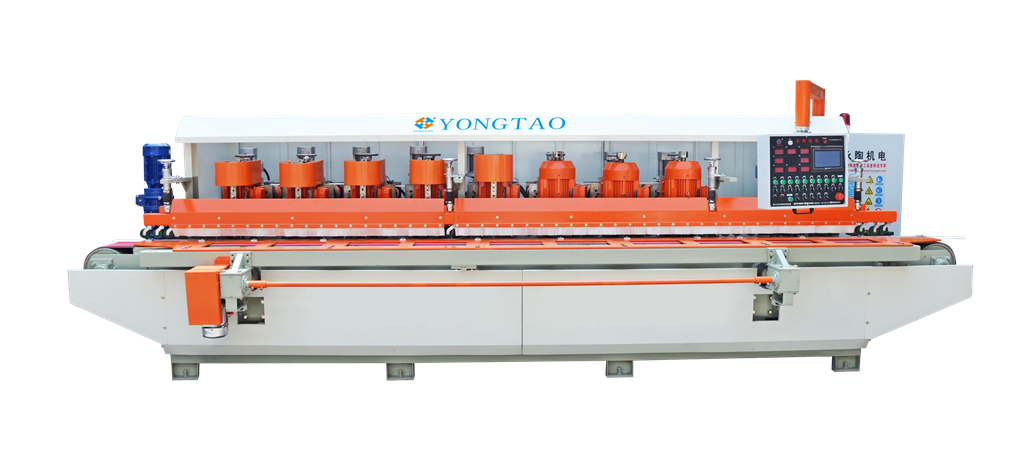 YSMP-1200 8 Head Stone Edge Profiling Polishing Machine