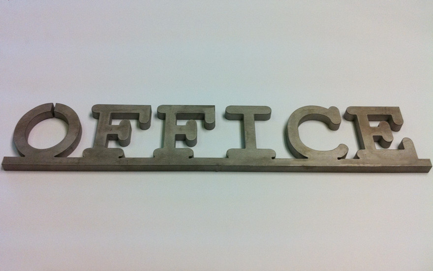 Metal processed by water jet cutter