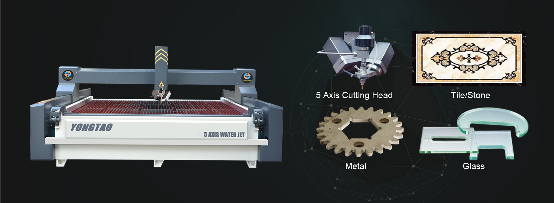Cutting for metal, glass, tile, stones, plastic, wooden, etc.
