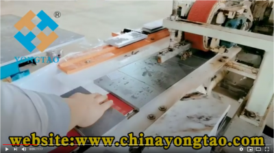Flat bevel edge polishing machine for sintered stone